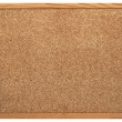 Blank Cork board with wooden frame (isolated)...