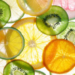 Citruses slices back projected...