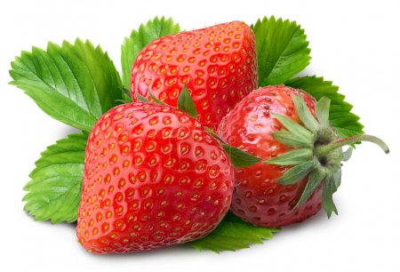 Strawberry on a white background...