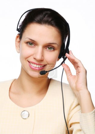 Smiling young woman - operator.Customer support.