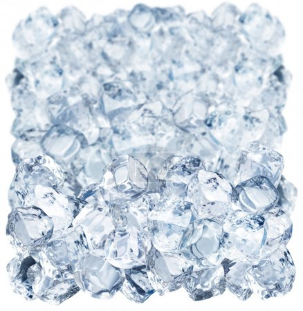 Photo for Ice cubes on a white background - Royalty Free Image