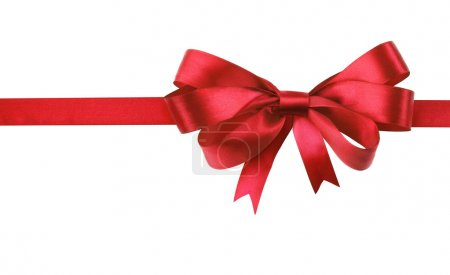 Photo for Red bow isolated on white background - Royalty Free Image