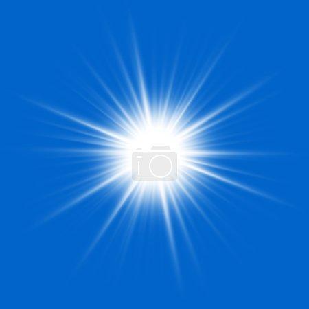 Photo pour Près du soleil sur fond bleu . - image libre de droit