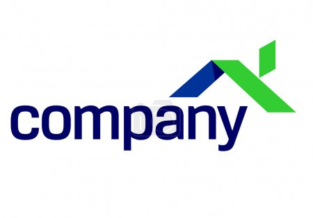 Illustration for House logo for eco (green) real estate company . - Royalty Free Image