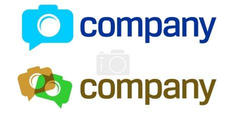 Photo camera logo design for professional studio