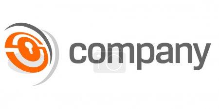 Illustration pour Logo : Serrure de sécurité pour l'entreprise de sécurité . - image libre de droit