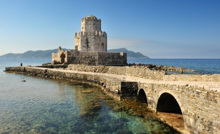The watchtower of the medieval castle of Methoni, southern Greec