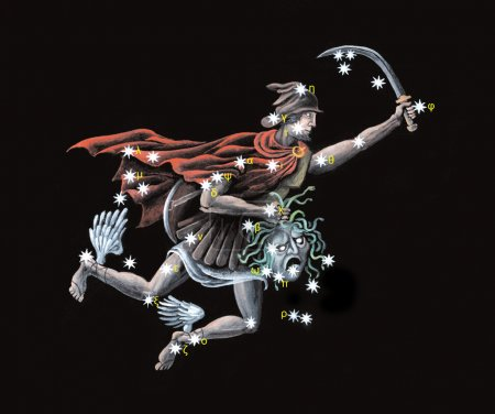 Constellation The Hero, rescuer of Andromeda (Perseus)