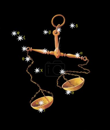Sign on zodiac constellation The Scales (Libra)