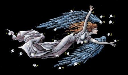Sign on zodiac constellation The Virgin (Virgo)