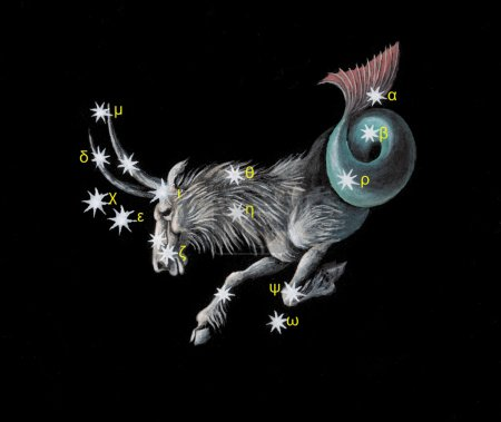 Sign on zodiac constellation The Sea Goat (Capricorn)