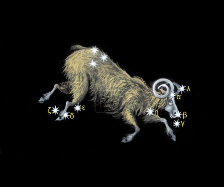 Sign on zodiac constellation The Ram (Aries)
