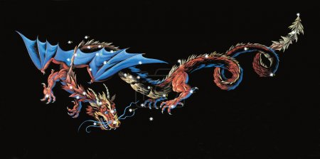 Constellation The Dragon (Draco)