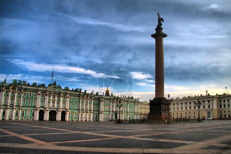 Alexander Column on the Palace Square in St. Petersburg, Russia