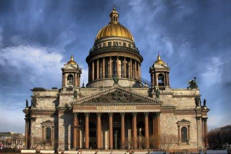 Photo pour Cathédrale Saint-Isaac, Saint-Pétersbourg, Russie - image libre de droit