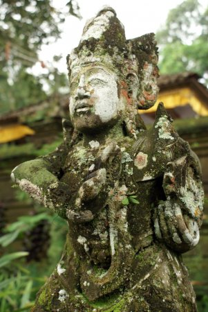 Statue of demon in temple, bali, indonesia...