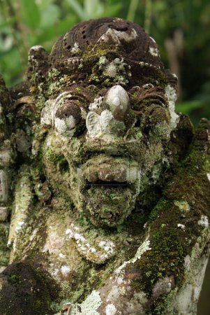 Head of balinese demon, bali, indonesia...