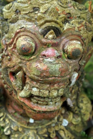 Big face of balinese demon, bali...