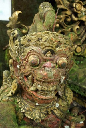 Balinese demon in temple, bali, indonesia...