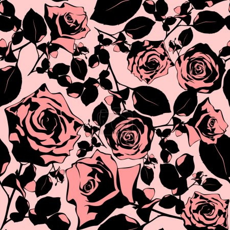 Illustration for Seamless floral texture, this illustration may be useful as designer work - Royalty Free Image