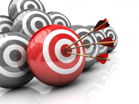 Photo for Abstract 3d illustration of right target concept - Royalty Free Image
