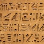 Ancient egyptian hieroglyphics...