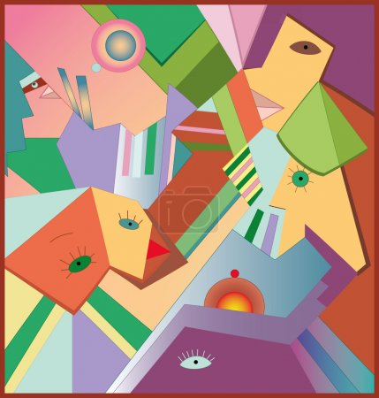 Illustration for Illustration of abstract city with - Royalty Free Image