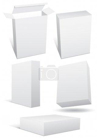 Illustration pour Vecteur série d'une boîte vide (détail). tous les objets sont isolés. boîte a un arrière-plan transparent. les couleurs sont faciles à ajuster/personnaliser. - image libre de droit