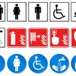 Vector set of international communication signs. A...