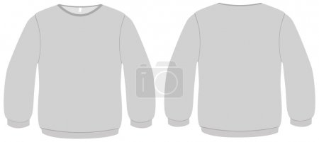 Basic Sweater template vector illustration.
