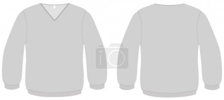 V-neck sweater template vector illustration.