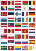 Vector flag set of all European countries