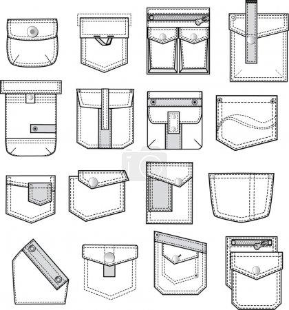 Set of pockets