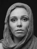 Monochrome portrait of a beautiful woman