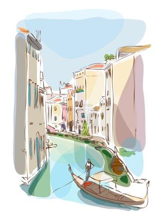 Venetian summer with gondolier
