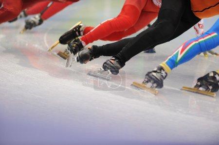 ice-skaters runners legs