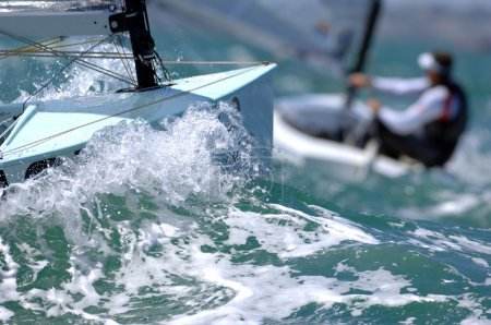 sail boat during race