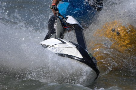 jet ski racer during race