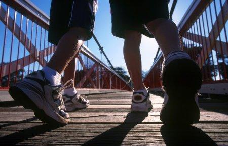 marathon runners in action