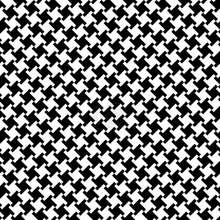 A seamless houndstooth pattern in black and white....