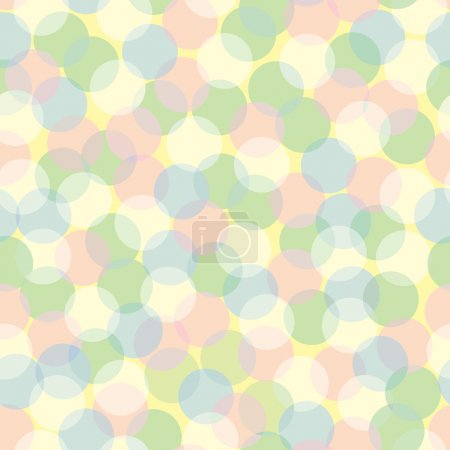 Seamless pattern of pastel-colored transparent lig...