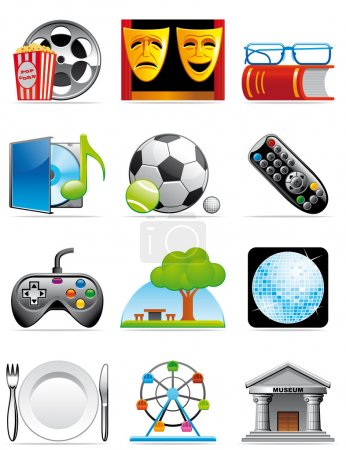 Leisure time icons
