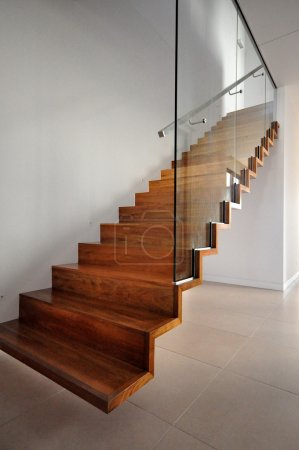 Photo for Wooden staircase - Royalty Free Image