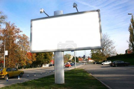 Photo for Blank Billboard On Field - Royalty Free Image