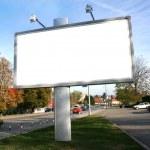 Blank Billboard On Field...