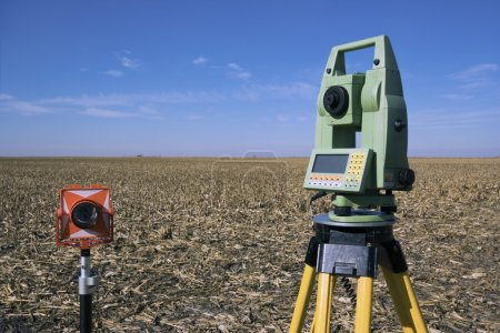Surveying Equipment in the field