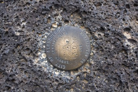 Benchmark found in volcanic rock