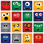Vector set of square monsters