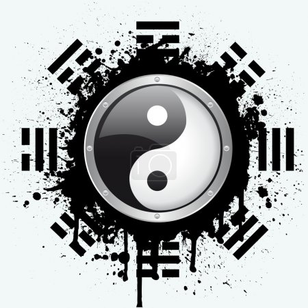 Illustration for Vector symbol of yin yang - Royalty Free Image