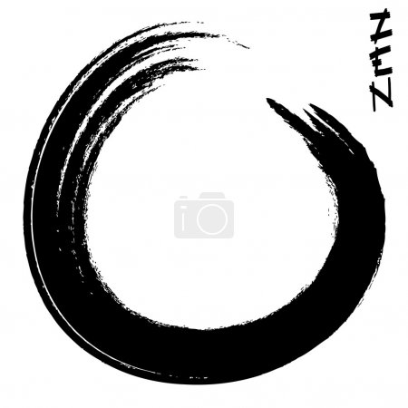 Illustration for Vector illustration of a zen circle - Royalty Free Image